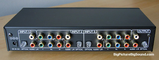 The 3 Play Switches Component Video As Well Analog Or Fiberoptic Digital Audio For Up To Three Devices