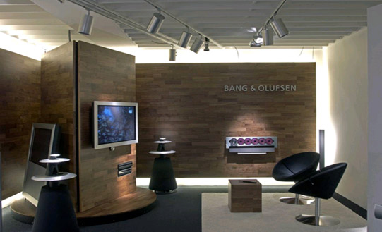 bang and olufsen showcases beosystem 3 and new store. Black Bedroom Furniture Sets. Home Design Ideas