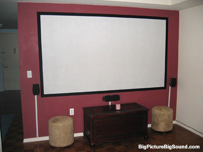 Diy home theater painting your own projection screen for Paint projector screen