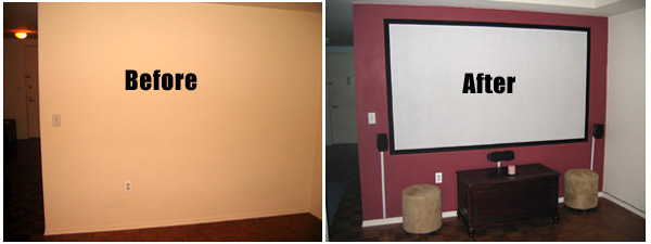 with a projection screen paint you no longer have to worry about image