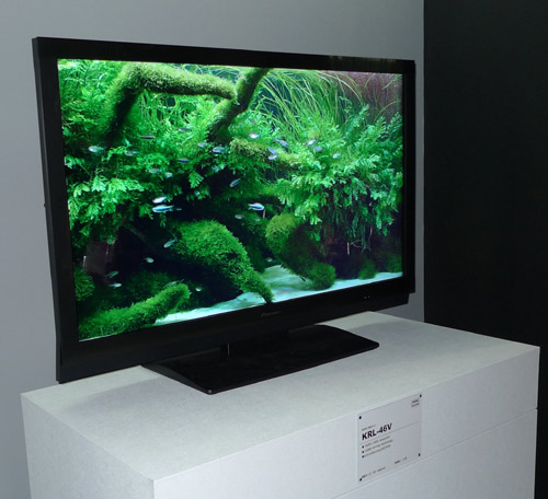 Pioneer kuro lcd hdtv models spotted at ceatec for Miroir 50in projector review