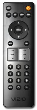 VIZIO VP322 32-inch Plasma HDTV remote