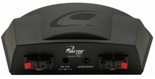Dayton Audio DTA-1 back panel