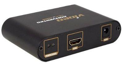 ElectroshopUSA Computer PC VGA Video + 3.5mm Audio to 1080P HDMI HDTV Converter Adapters Box