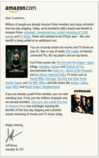 amazon offers free tv and movie downloads to prime members