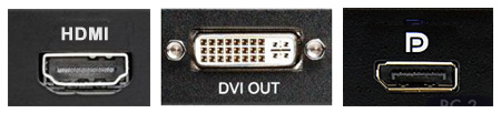 HDMI, DVI and DisplayPort