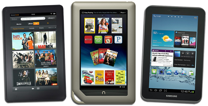 3 Sevens - Kindle Fire, Nook Tablet, Samsung Galaxy Tab 2