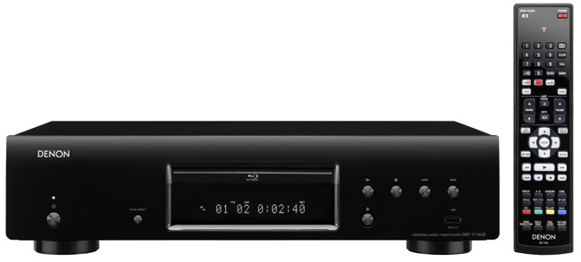 denon packs a bit of everything in bt 1713ud universal blu ray player bigpicturebigsound. Black Bedroom Furniture Sets. Home Design Ideas