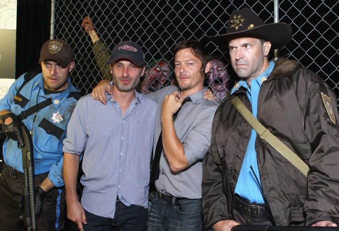 The Walking Dead at Comic- Con.