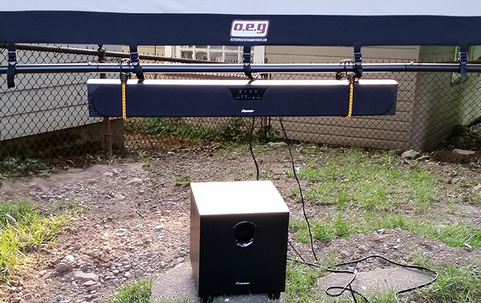 how to build an outdoor home theater for around 1 500