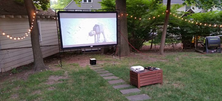 Backyard Theater Ideas how to build an outdoor home theater for around $1,500