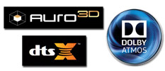 What's Up with 3D Immersive Sound: Dolby Atmos, DTS:X and AURO-3D?