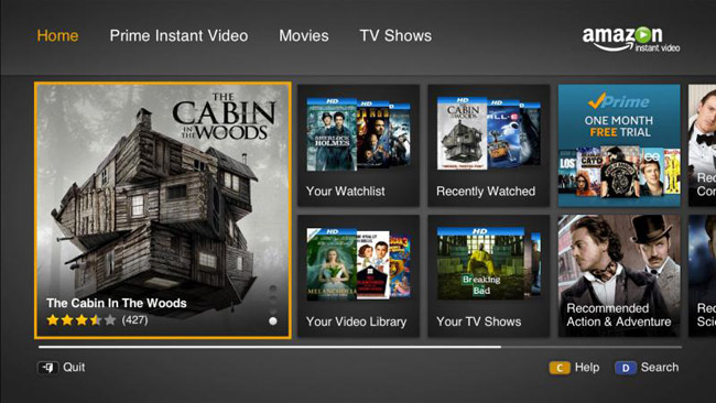 samsung smart apps amazon instant video