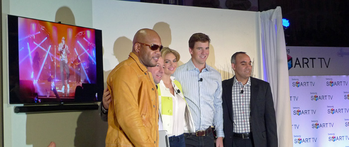 Flo-Rida, Kate Upton and Eli Manning join Samsung for 2013 TV launch