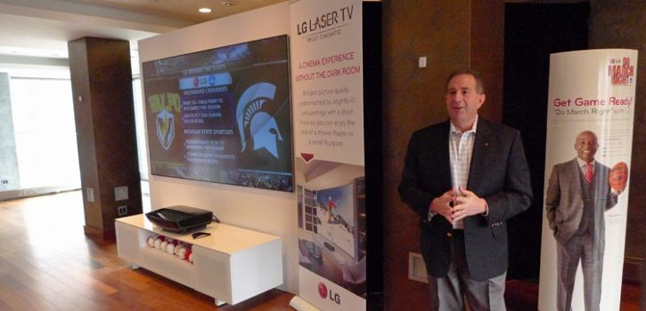 Tim Alessi and LG Laser TV